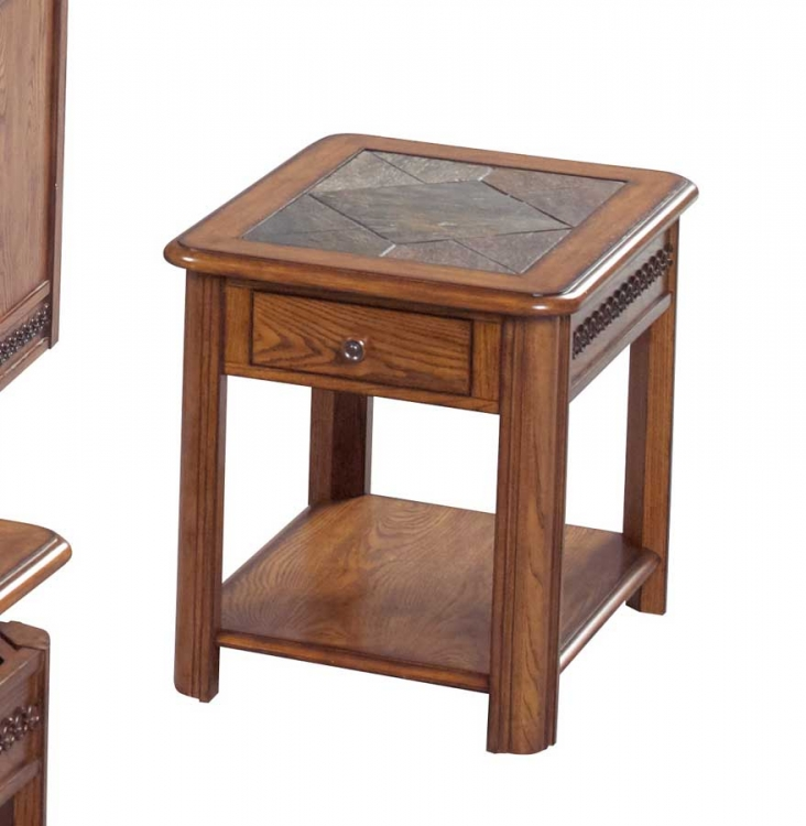 879 Series End Table With Drawer - Catnapper