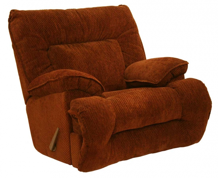 Bailey Chaise Rocker Recliner - Crimson - Catnapper