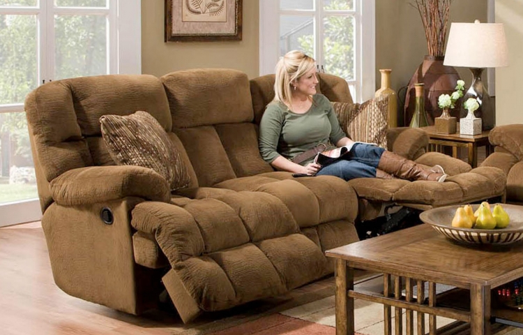 Concord Lay-Flat Reclining Sofa - Pecan/Copper - Catnapper