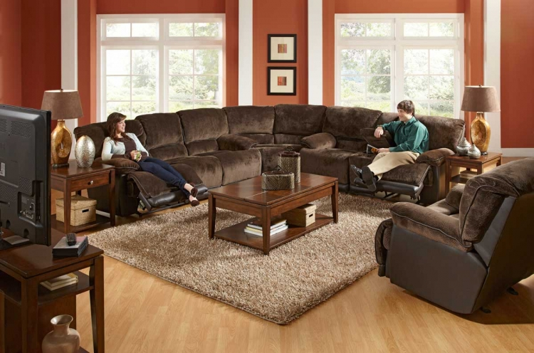 Escalade Sectional Sofa Set - Chocolate - Catnapper