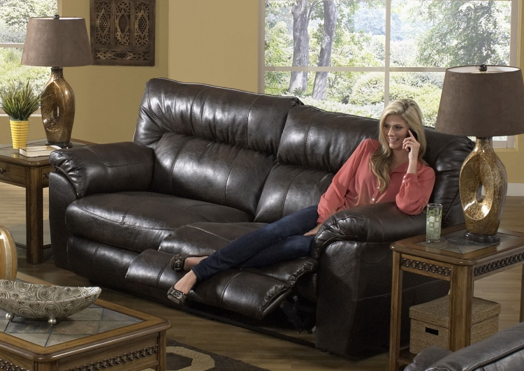 Nolan Power Extra Wide Reclining Sofa - Godiva - Catnapper