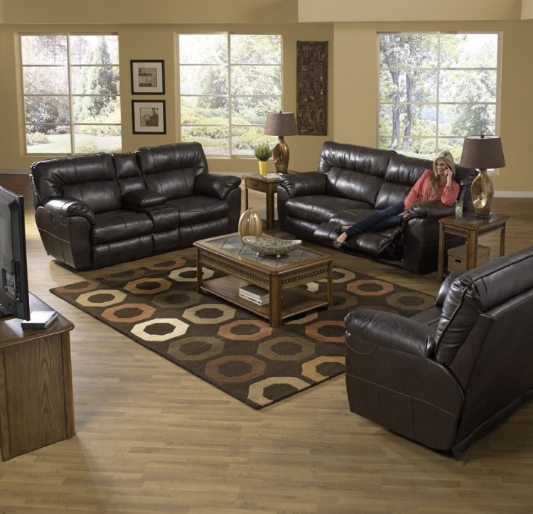 Nolan Power Reclining Sofa Set - Godiva