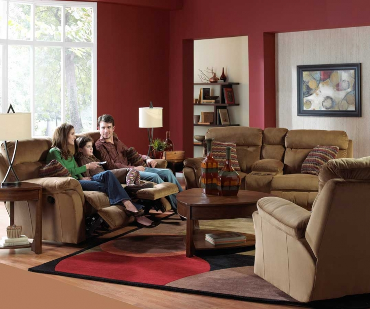 Variables Reclining Sofa Set - Pecan - Catnapper