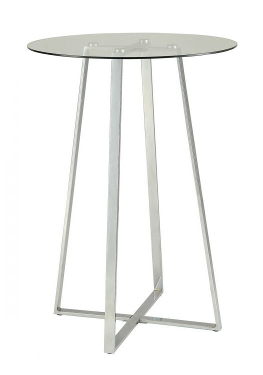 100026 Bar Table - Chrome