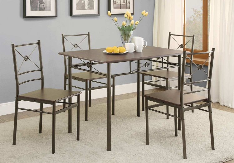 100033 5-Pc Dinette Set - Dark Bronze