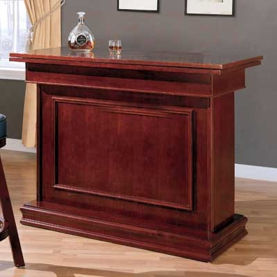100128 Bar Unit with Game Table Settings - Cherry