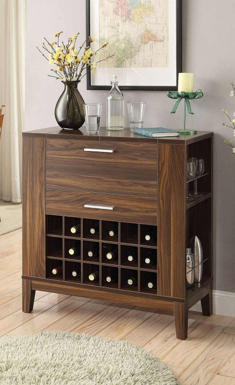 100130 Bar Cabinet - Dark Walnut