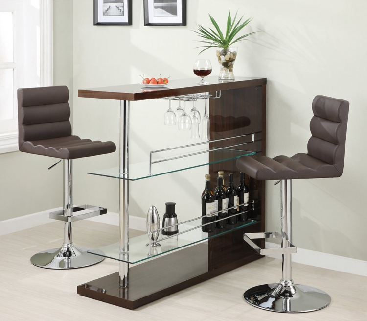 100166 metal bar set - Kitchen Bar Table Set