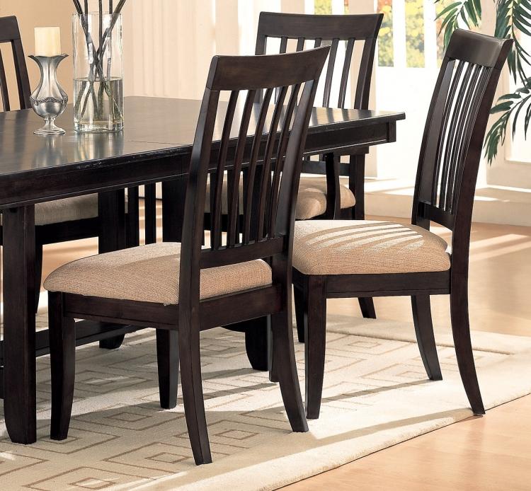 Monacova Side Chair - Cappuccino/Neutral Fabric