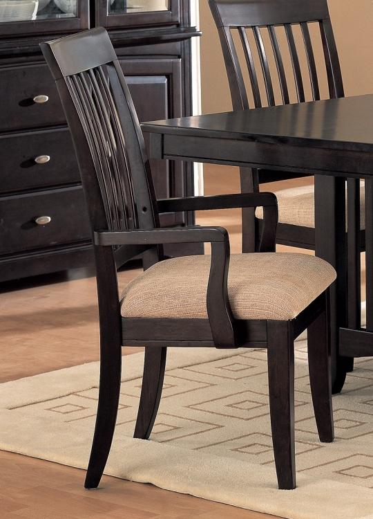 Monacova Arm Chair - Cappuccino/Neutral Fabric