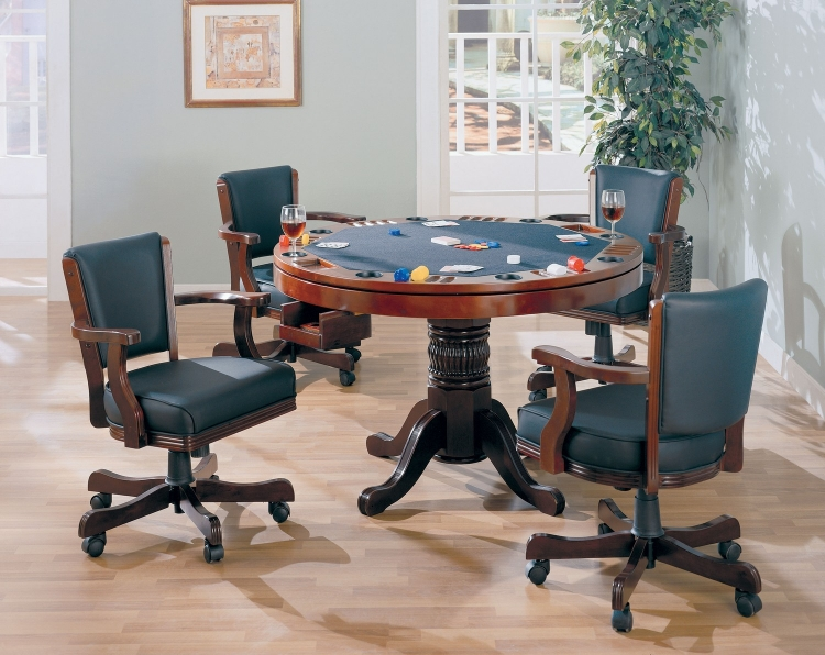 100201 Game Table Set - Merlot