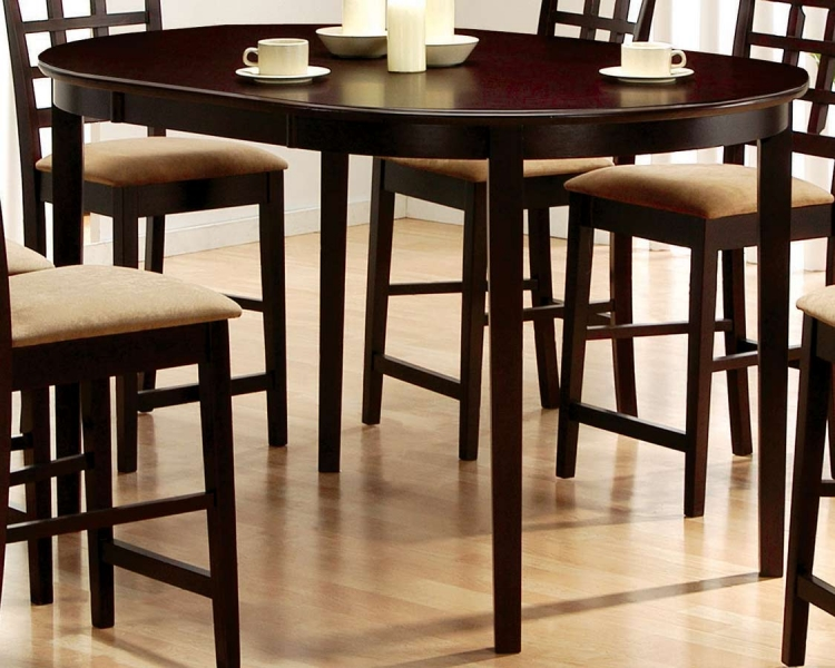 Mix and Match Oval Counter Height Table - Coaster