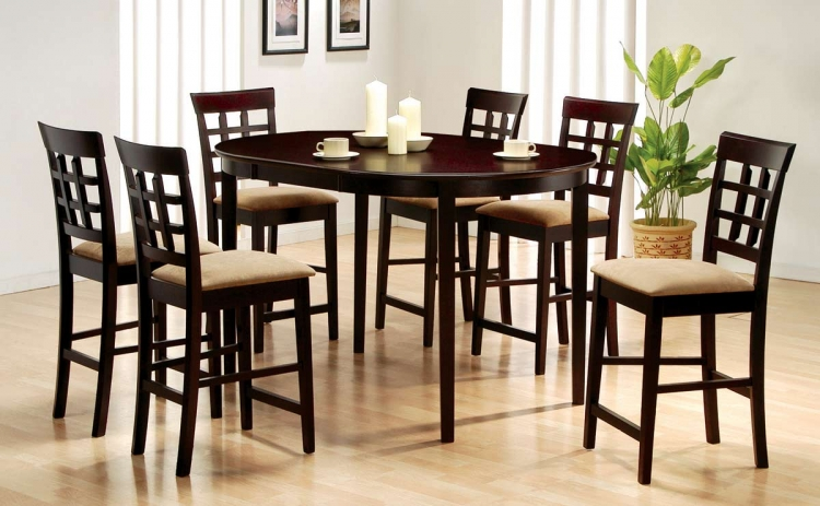 Mix and Match Oval Counter Height Dining Collection 1