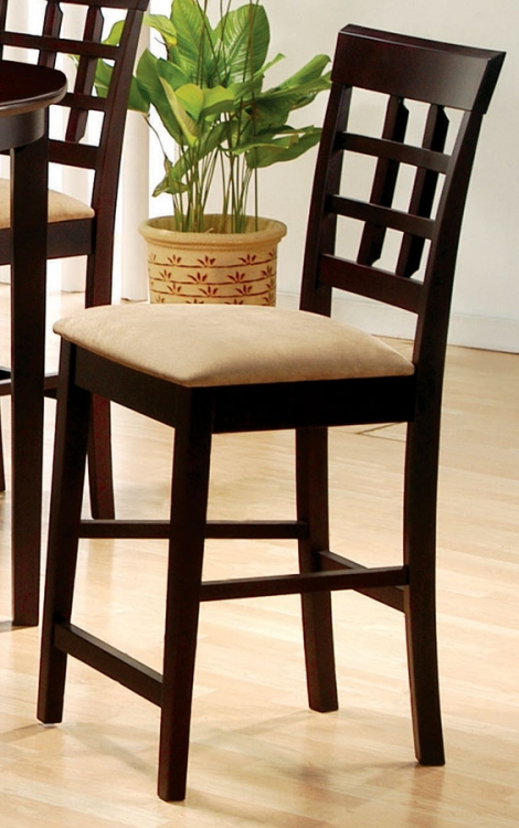Mix and Match 24 Inch Wheat Back Counter Stool - Coaster
