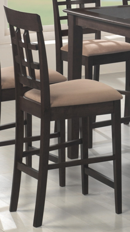 Mix and Match 30 Inch Wheat Back Bar Stool - Cappuccino