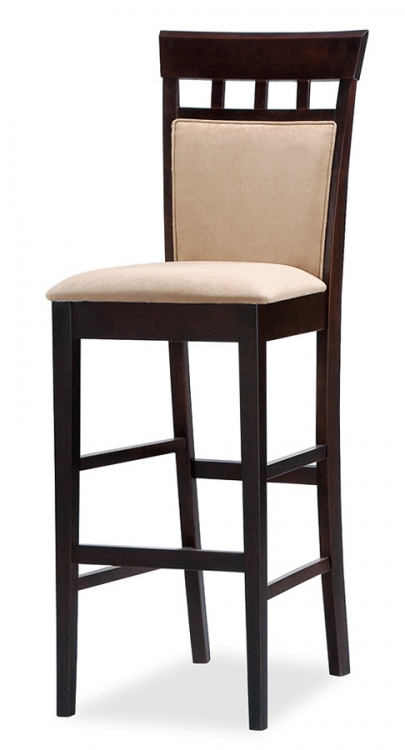 Mix and Match 30 Inch Cushion Back Bar Stool - Cappuccino - Coaster