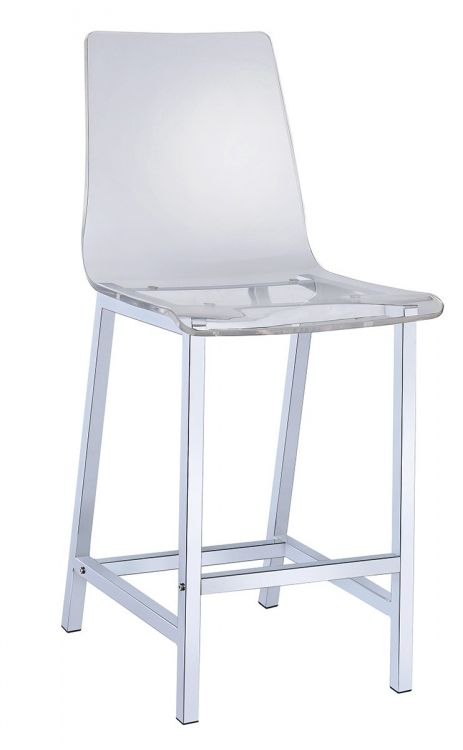 100265 24-inch Bar Stool - Clear