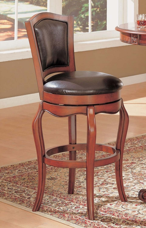 100268 Bar Stool - Cherry - Coaster