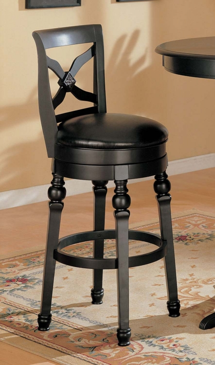 100278 Bar Stool - Black - Coaster