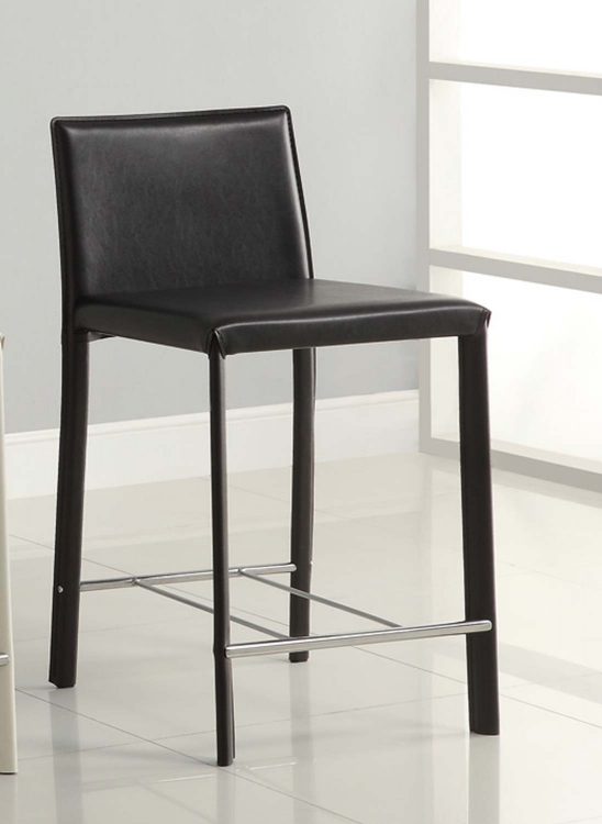 100329BLK Black 24in H Bar Stool