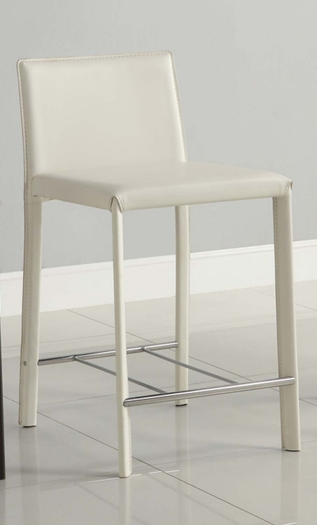 100329WHT White Counter Stool - Coaster