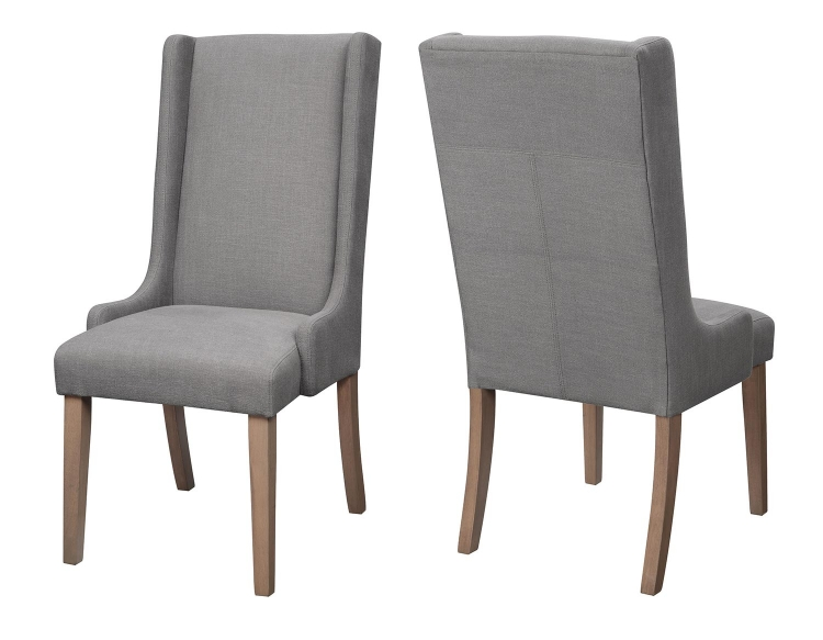 100354 Baby Wing Back Parson Chair - Charcoal