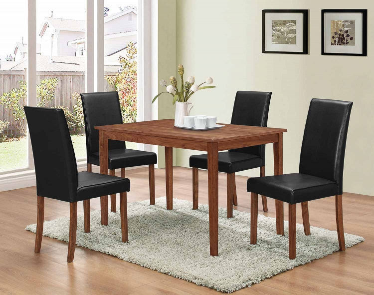 100440 5 PC Dinette Set - Walnut