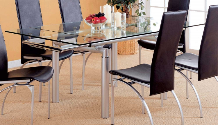 Himmarshee Dining Table - Metal - Glass Top
