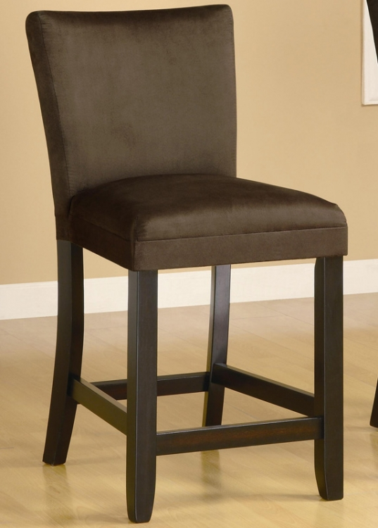 Bloomfield 24 Inch Microfiber Counter Stool - Chocolate - Coaster