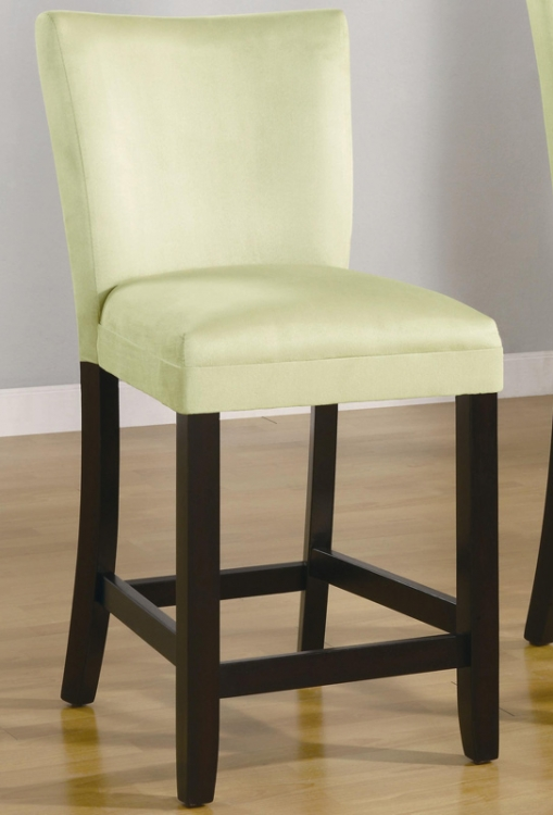 Bloomfield 24 Inch Microfiber Counter Stool - Light Green - Coaster
