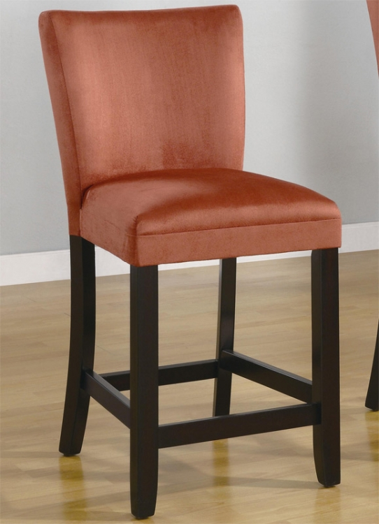 Bloomfield 24 Inch Microfiber Counter Stool - Terracotta - Coaster