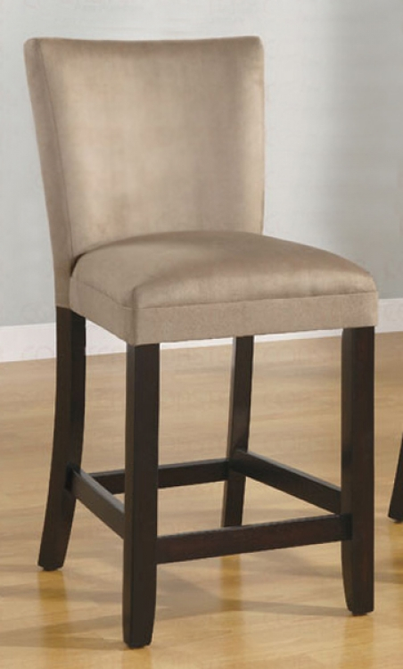 Bloomfield 24 Inch Microfiber Counter Stool - Taupe - Coaster