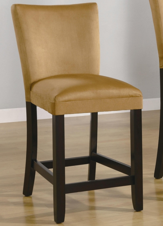 Bloomfield 24 Inch Microfiber Counter Stool - Gold Ochre - Coaster