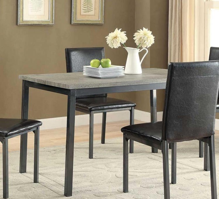Garza Rectangular Dining Table - Black