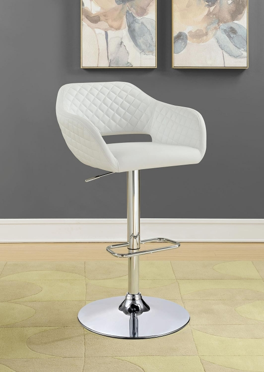 100829 Adjustable Bar Stool - Chrome