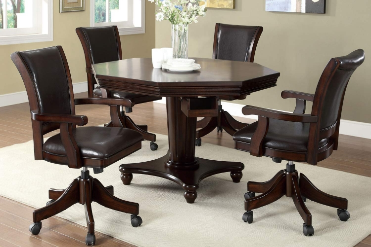 100873 Game Table Set - Mahogany