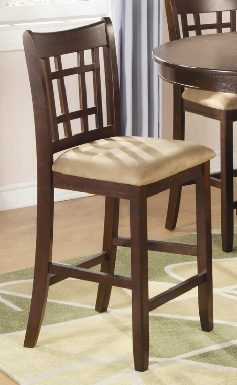 Lavon 24 Inch Counter Stool - Cherry - Coaster