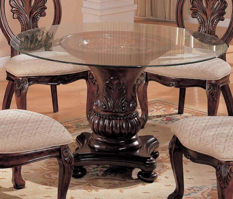 Tabitha Dark Round Pedestal Table 48 Inch