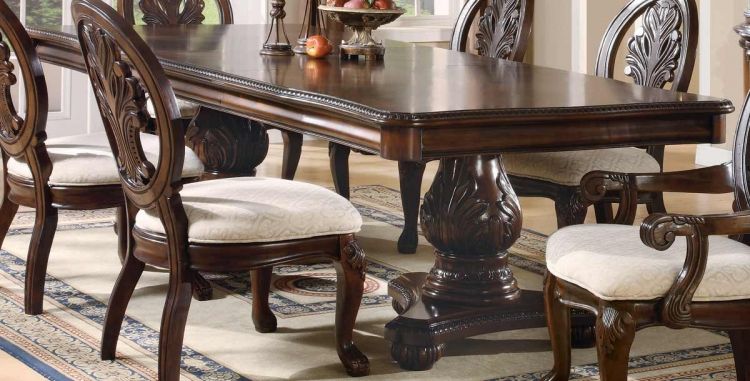Tabitha Dark Pedestal Dining Table - Coaster