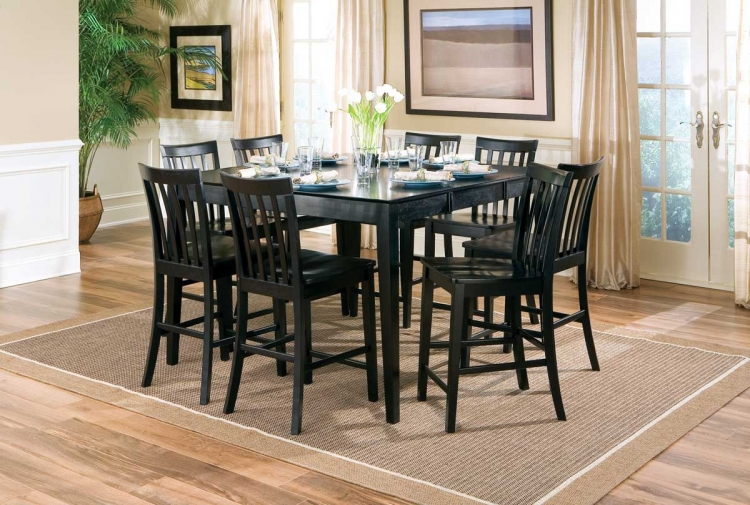 Pines Counter Height Dining Set - Black