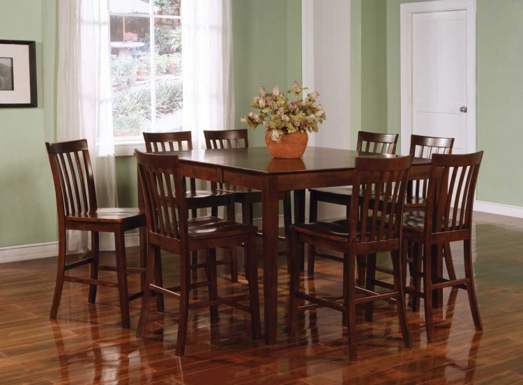 Pines Counter Height Dining Set - Walnut - Coaster