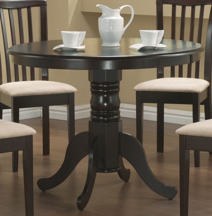 Brannan Round Pedestal Dining Table - Cappucino