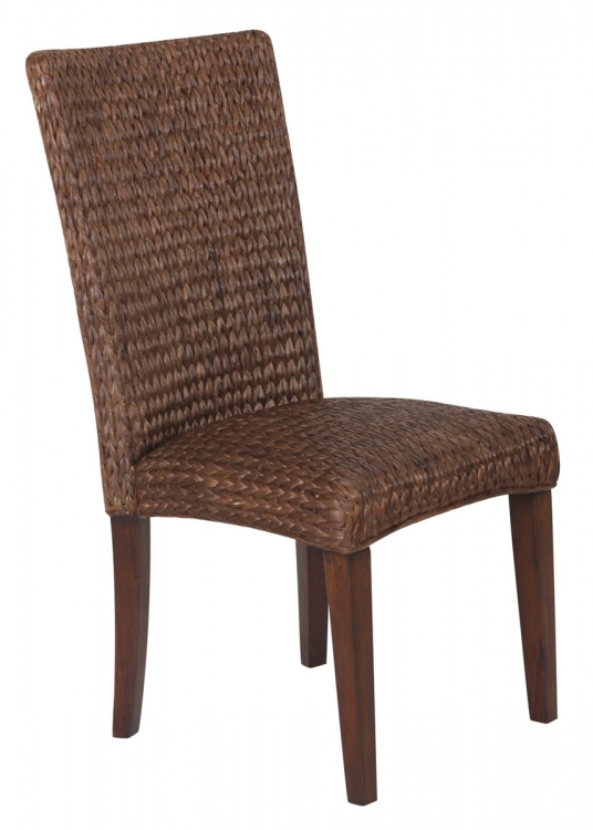 Westbrook Woven Side Chair - Dark Brown