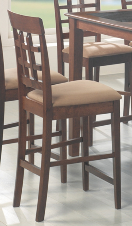 Mix and Match 24 Inch Wheat Back Stool - Walnut