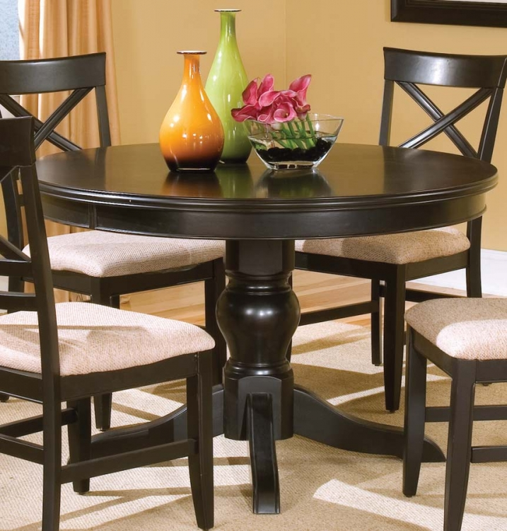 Sheldon Round Dining Table -Black