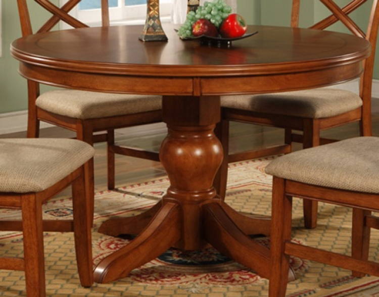 Sheldon Round Dining Table - Walnut