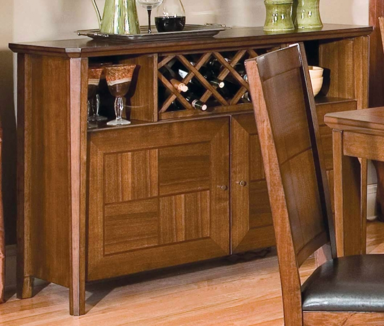 Vickery Server with Wine Rack