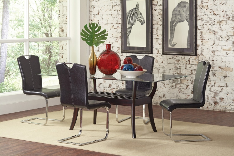 Bloomfield Glass Dining Set -
