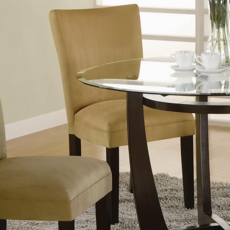 Bloomfield Gold Ochre Parson Chair