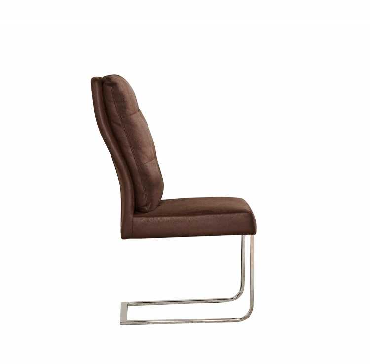 San Vicente Side Chair - Brown Fabric